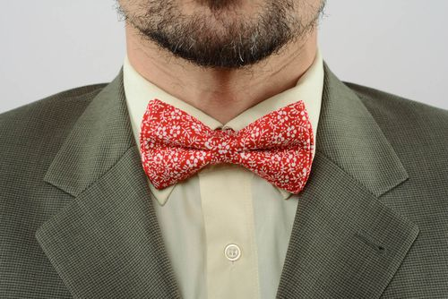 Bow tie with floral print - MADEheart.com