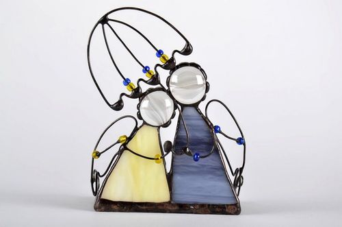 Stained glass candlestick Together under one umbrella - MADEheart.com