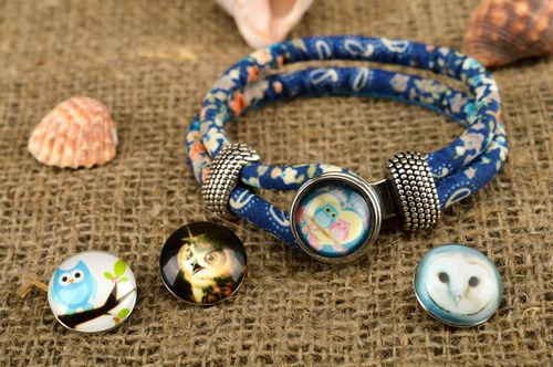 Fabric bracelet handmade textile jewelry for women stylish accessories for girls - MADEheart.com