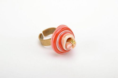 Seal ring made from glass and metal Sunset - MADEheart.com