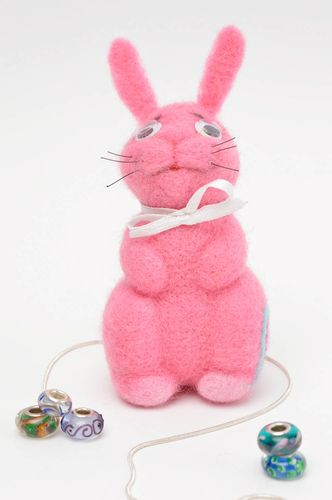 Unusual handmade rabbit soft toy interior textile toy children holiday - MADEheart.com