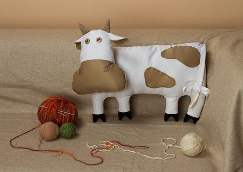 Pillow toy Cow - MADEheart.com