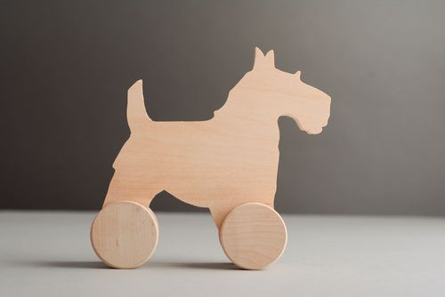 Wooden toy with wheels Doggie - MADEheart.com
