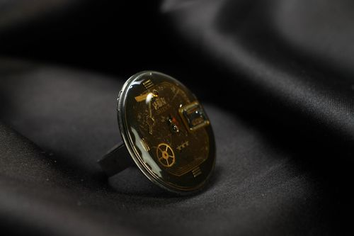 Metal ring in steampunk style - MADEheart.com