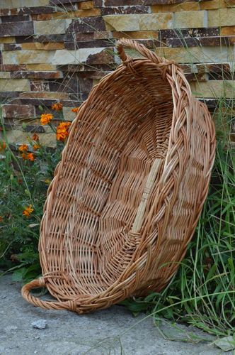 Unusual handmade woven basket cool rooms home goods handmade gifts for girls - MADEheart.com