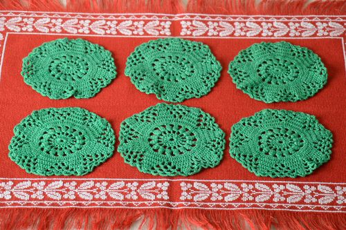Handmade napkin crocheted openwork napkins table napkin home decor ideas - MADEheart.com