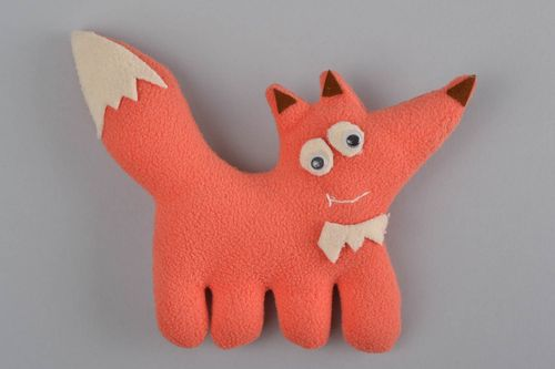 Handmade decorative beautiful toy red fox for children and home interior - MADEheart.com