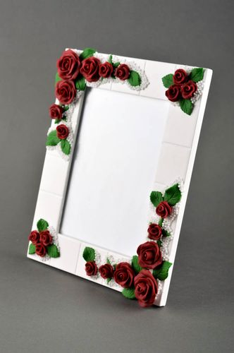 Handmade photo frame white wooden photo frame molded photo frame home decor  - MADEheart.com
