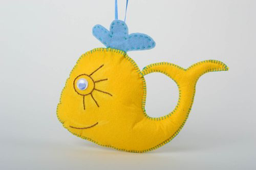 Soft toy made of felt handmade stylish accessories beautiful soft home decor - MADEheart.com