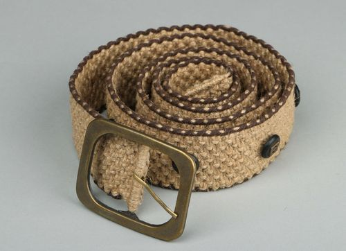 Braided jute belt - MADEheart.com
