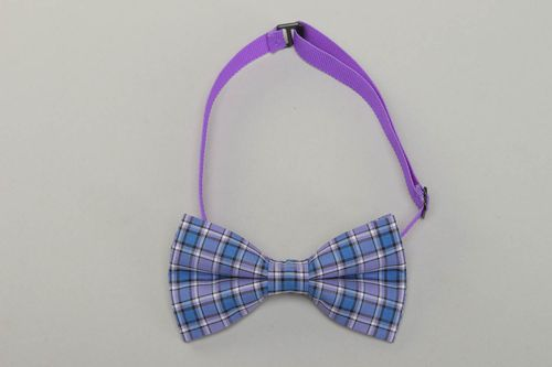 Bright checkered fabric bow tie - MADEheart.com