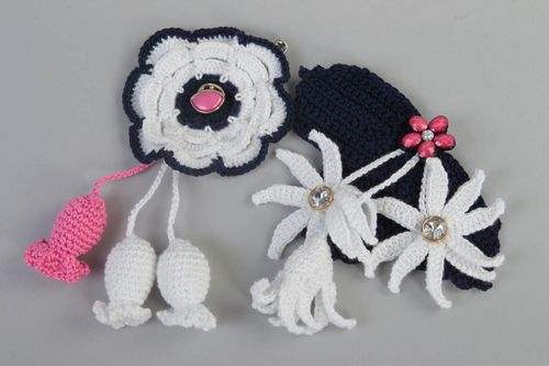 Handmade crocheted brooches designer brooch flower brooch fashion jewelry - MADEheart.com
