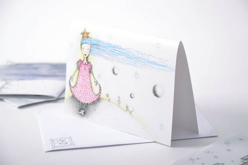 Postcard Princess Night - MADEheart.com