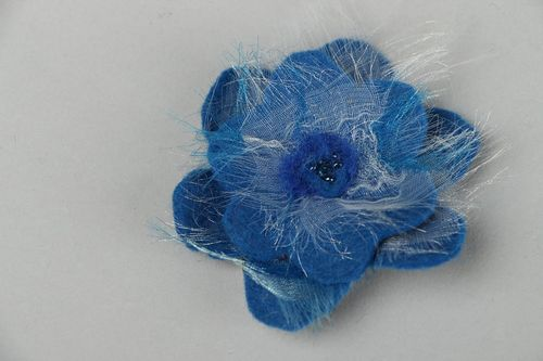 Felted brooch Blue Rose - MADEheart.com