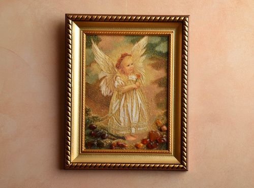 Amber decorated picture Angel - MADEheart.com