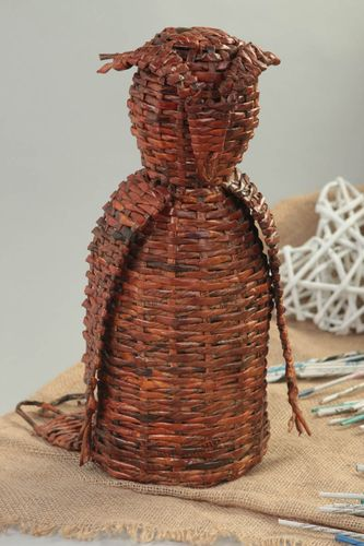 Beautiful handmade woven figurine newspaper craft gift ideas decorative use only - MADEheart.com