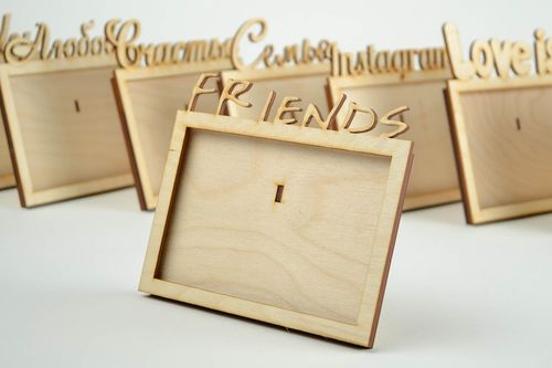 Photo frame blank for creativity handmade wooden frame for painting home decor - MADEheart.com