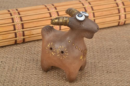 Clay whistle Goat - MADEheart.com