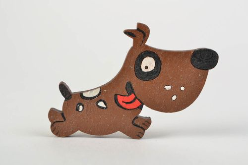 Handmade wooden brooch stylish brooch for kids small funny accessory gift - MADEheart.com