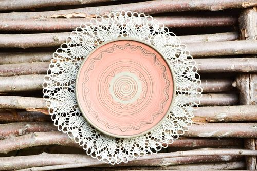 Handmade ceramic plate decorative plate stoneware dishes kitchen decor - MADEheart.com