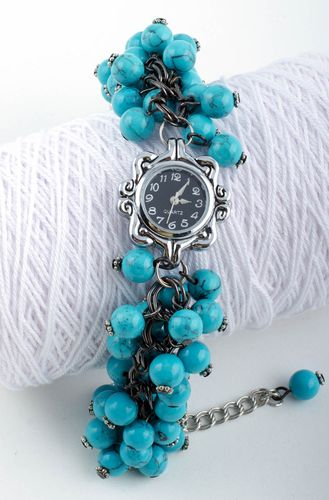 Unusual handmade womens watches beaded wristwatch bracelet gifts for her - MADEheart.com