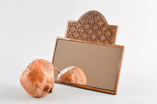 Handmade designer table mirror wooden framed mirror home interior decoration - MADEheart.com