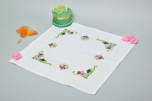 Beautiful handmade textile napkin home textiles table decor ideas small gifts - MADEheart.com