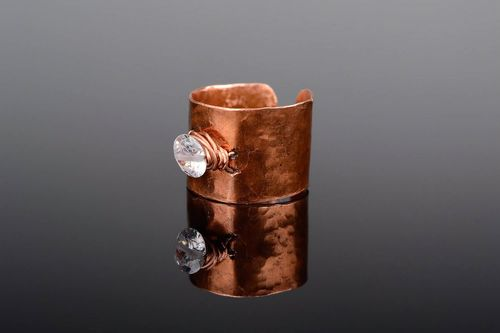 A ring of copper with zirconium, wire wrap - MADEheart.com