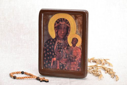 Printed copy of the icon of the Mother of God Czestochowa - MADEheart.com