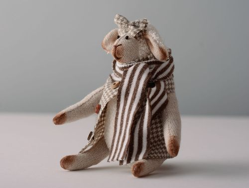 Linen toy Sheep - MADEheart.com