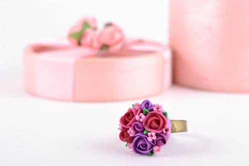 Beautiful polymer clay ring - MADEheart.com