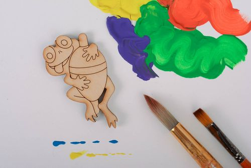 Wooden blank Frog - MADEheart.com