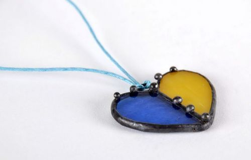 Stained glass pendant, pendant - MADEheart.com