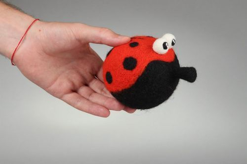 Felted soft toy Ladybird - MADEheart.com