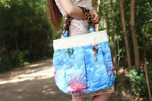 Textile bag Underwater World - MADEheart.com