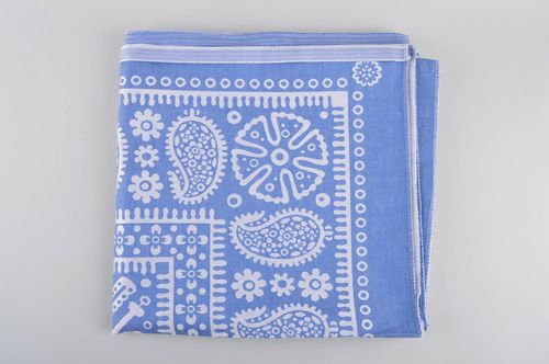 Unusual table decoration handmade tablecloth blue and white table cover - MADEheart.com