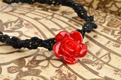 Handmade necklace with flower handmade jewelry fashion accessories for women - MADEheart.com