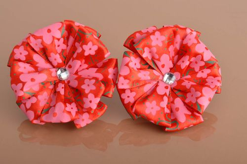 Handmade scrunchy designer accessory set of 2 items flower accessories - MADEheart.com