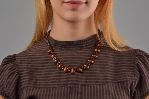 Handmade jewellery designer necklace wooden beads necklaces for women - MADEheart.com