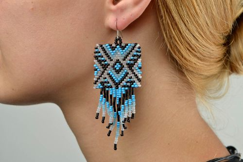 Stylish handmade beaded earrings cool earrings for women beautiful jewellery - MADEheart.com
