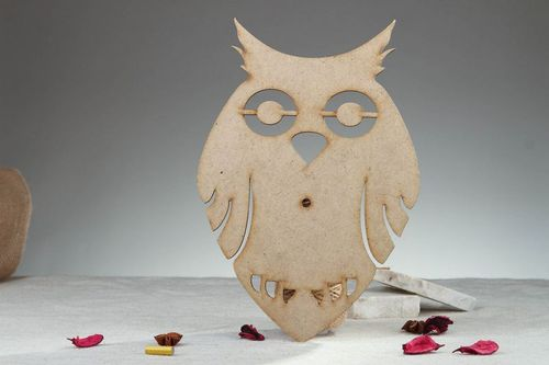 Wooden blank for clock Owl - MADEheart.com