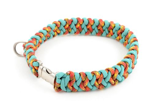 Handmade dog collar paracord dog collar pet accessories dog products dog lead - MADEheart.com