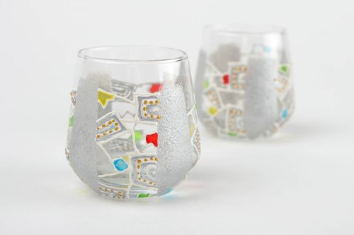 Unusual handmade shot glasses stylish ware for alcohol glasses for whiskey - MADEheart.com