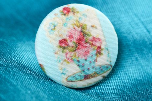 Handmade cute vintage button unusual decorative fittings sewing accessory  - MADEheart.com