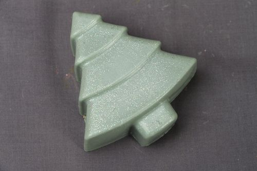 Beautiful soap in the shape of fir tree - MADEheart.com