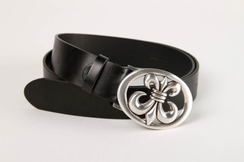 Handmade belt designer accessory for men gift ideas unusual belt black belt - MADEheart.com