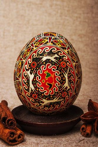 Ukrainian painted Easter egg In Life Circle - MADEheart.com
