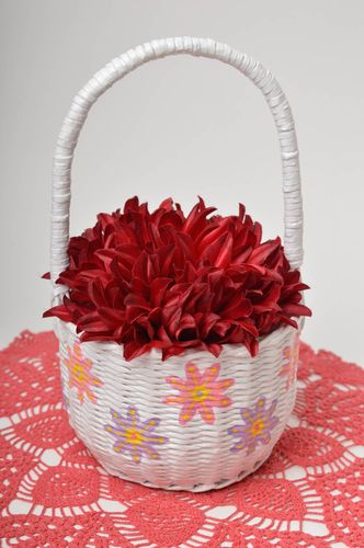 Handmade decorations paper basket storage basket Easter decorations home decor - MADEheart.com
