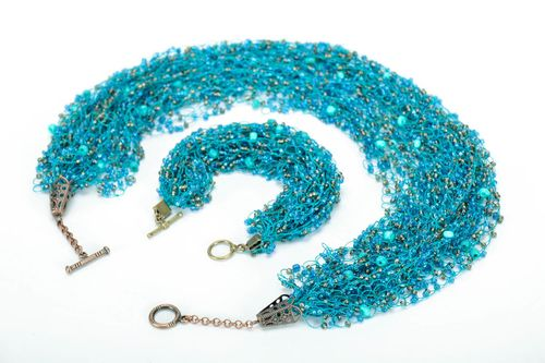 Set of beaded adornments: bracelet and necklace - MADEheart.com