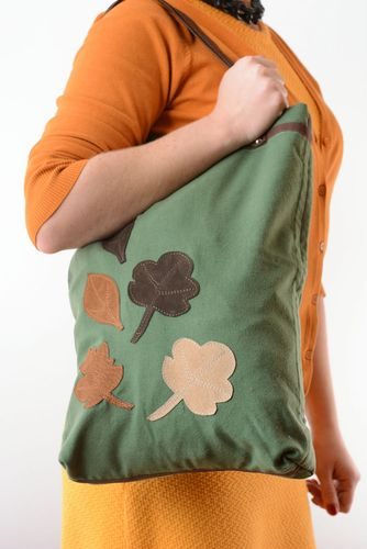 Fabric bag with application - MADEheart.com